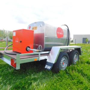 Remorque gasoil 900 litres homologuée