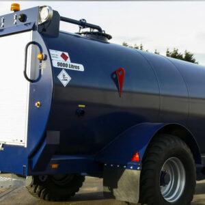 Remorque citerne gasoil tout-terrain 9000 litres Pegase